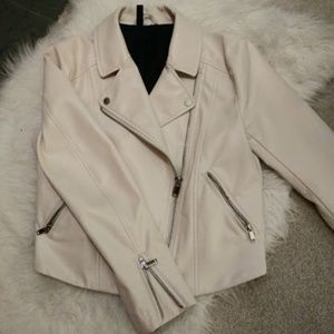 H&M Faux Leather Moto Jacket - Size 6